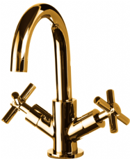 DoratO Adesso Mono Basin Mixer Tap in 24ct Gold